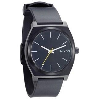 Nixon Men's Time Teller A119000 Black Polyurethane Analog Quartz Dress Watch