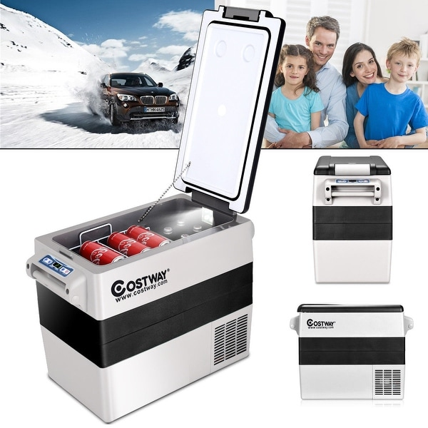 Shop Costway 54 Quarts Portable Electric Car Cooler