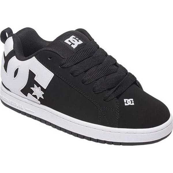 0bf377caddd7eb Shop DC Shoes Men's Court Graffik Black - Free Shipping Today ...