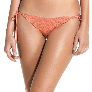 Vix NEW Orange Women's Size Large L Bikini Bottom Laser Cut Swimwear