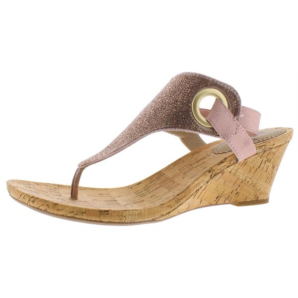 White Mountain Womens ALLDONE Wedges Slingback Thong. Opens flyout.