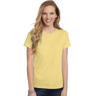 Hanes Women's Relaxed Fit Jersey ComfortSoft® Crewneck T-Shirt - Size - 3X - Color - Daffodil Yellow