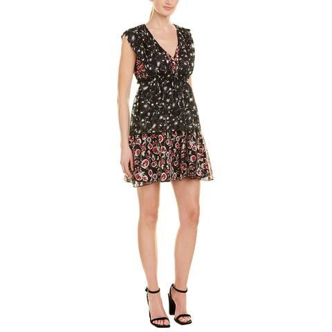 Anna Sui Artisan Soiree Silk Shift Dress