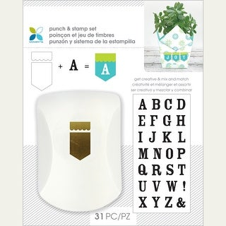 Momenta Punch & Stamp Set-Banner/Serif Alphabet
