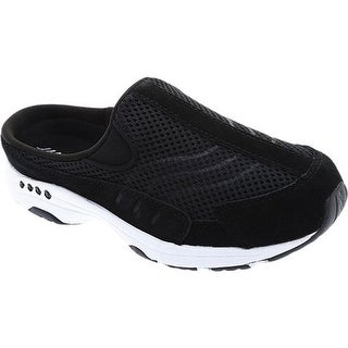 Easy Spirit Women's Traveltime Slip-on Black/White Suede