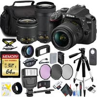 Nikon D3400 with 18-55mm and 70-300mm Lens Accessory Kit Intl Model