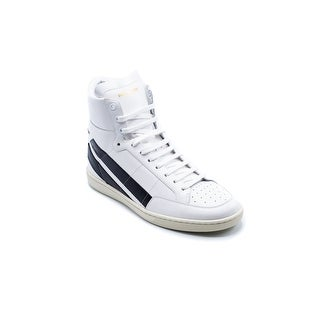 Saint Laurent White Court Classic SL/36H High Top Sneakers|https://ak1.ostkcdn.com/images/products/is/images/direct/1809d0ddf44d830ae568fc4839477e7d33e51c98/Saint-Laurent-White-Court-Classic-SL-36H-High-Top-Sneakers.jpg?_ostk_perf_=percv&impolicy=medium