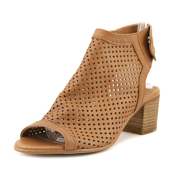 Steven Steve Madden Sambar Women Open Toe Leather Brown Sandals