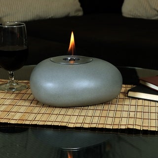 Sunnydaze Decorative Rock Bio Ethanol Tabletop Indoor Fireplace - 8-Inch