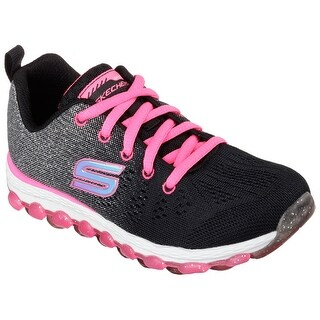 Skechers 80035L BKNP Girl's AIR ULTRA - GLITTERBEAM Training