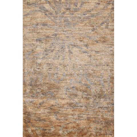 """Indoor/ Outdoor Abstract Contemporary Oriental Area Rug Hand-knotted - 4'8"""" x 6'7"""""""