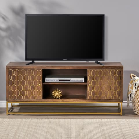 Cannonville Contemporary Wooden TV Stand by Christopher Knight Home
