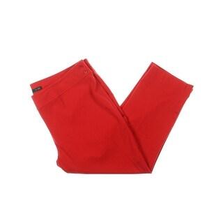 Lauren Ralph Lauren Womens Plus Skinny Pants Twill Flat Front