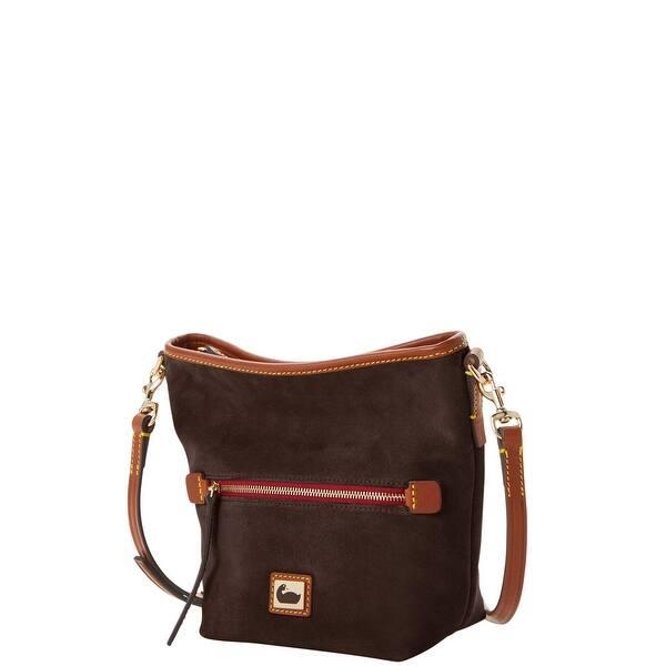 Dooney /& Bourke Camden Suede Small Hobo Crossbody Shoulder Bag
