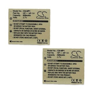 Battery for Konica NP1 (2-Pack) Battery for Konica NP-1
