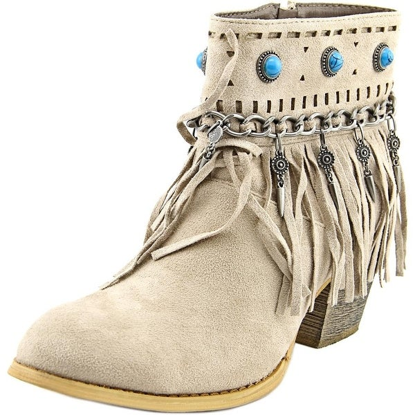 Not Rated Athina Round Toe Suede Ankle Boot