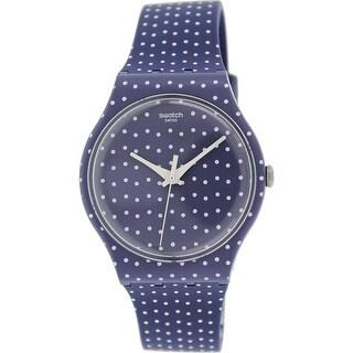 Swatch Women's Originals SUON106 Blue/White Rubber Swiss Quartz Fashion Watch