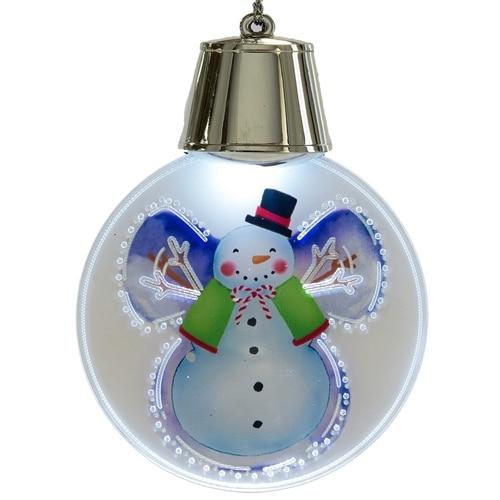LED Snowman Ornament