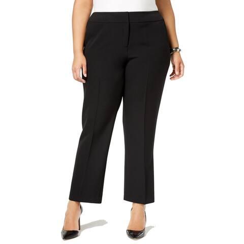 Kasper Women's Dress Pants Black Size 20W Plus Straight-Leg Modern