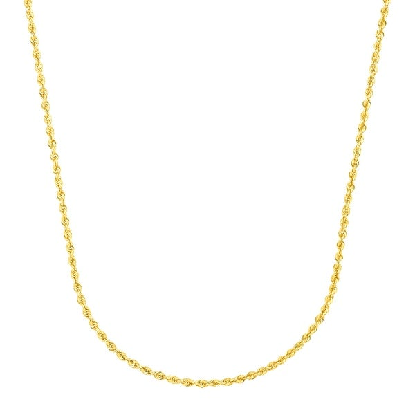"""Just Gold 20"""" Glitter Rope Chain in 14K Gold - Yellow"""