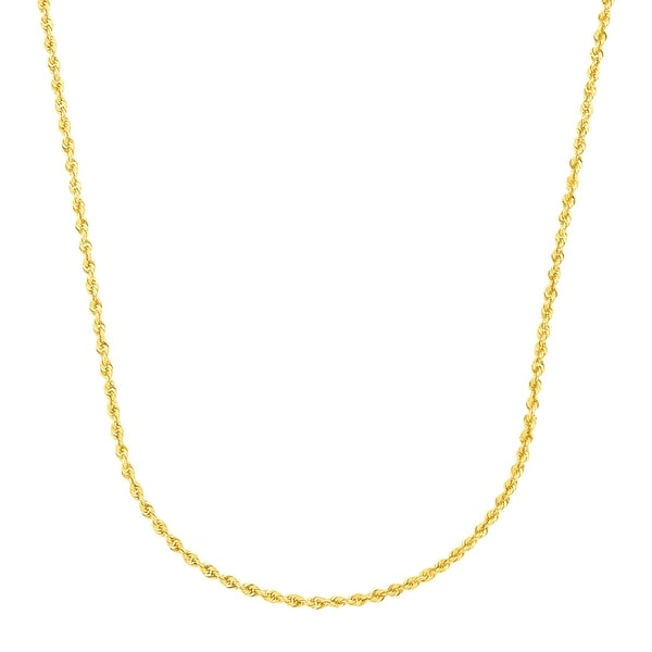 "Just Gold 24"" Glitter Rope Chain in 14K Gold - Yellow"