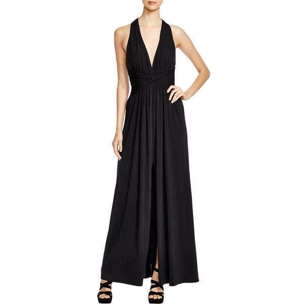 BCBG Max Azria Womens Danicka Evening Dress Open Back Ruched