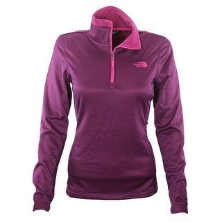 The North Face Women Rosette 1/4 Zip Pullover Basic Jacket Plum/Magenta