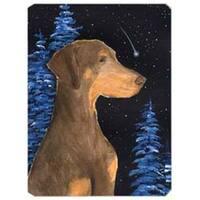 Starry Night Doberman Mouse Pad