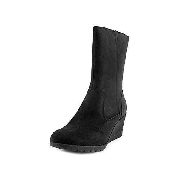 57edb133e62 Shop Ugg Australia Womens Joely Wedge Boots Nubuck Waterproof - Free ...
