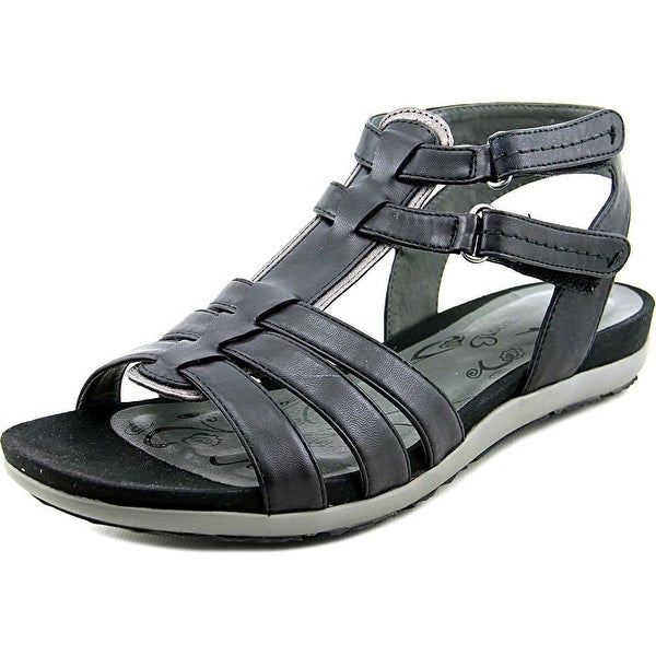 Baretraps Rhose Women Open Toe Synthetic Black Gladiator Sandal