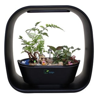 Intelligent Indoor Led Light Garden by Spigo, With Self-Timing and Self Watering Technology - Black