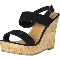 Fashion Focus Womens Jenny-18 Fashion Sandals - Black - 8.5 b(m) us