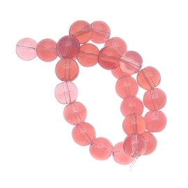 Czech Glass Druk Round Beads 8mm Pink Opal (25)