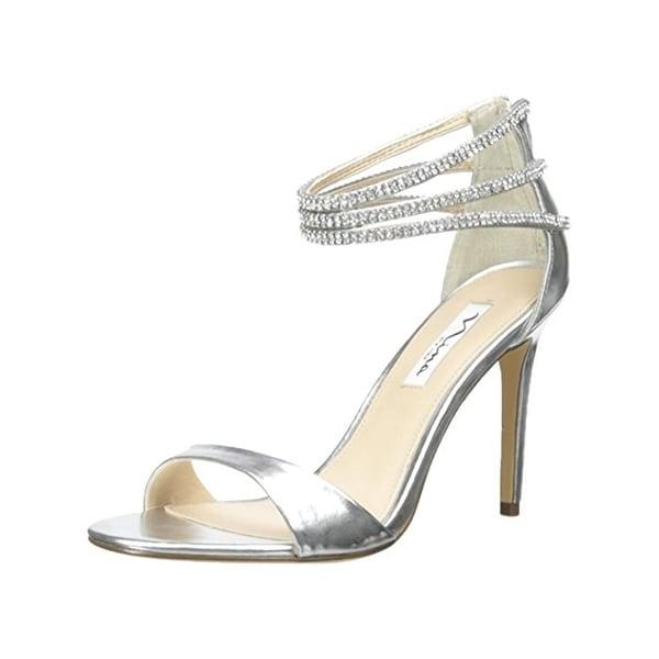 Nina Womens Catessa Evening Heels Open Toe Rhinestone - 9.5 medium (b,m)