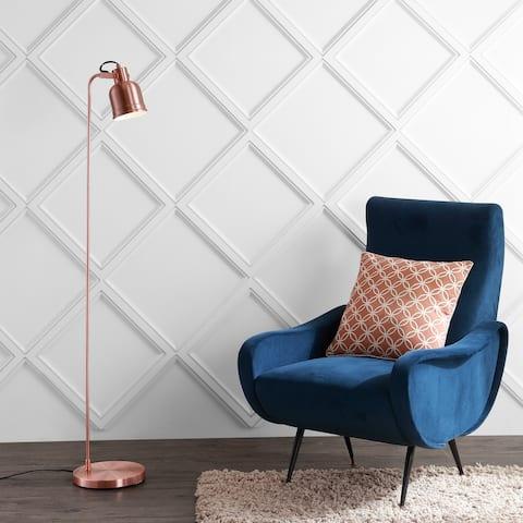 """Brandon 57"""" Metal Task LED Floor Lamp, Copper by JONATHAN Y"""