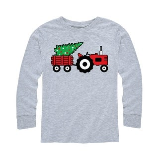 Tractor And Treee - Youth Long Sleeve Tee