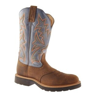 Twisted X Boots Men's MCW0002 Distressed Saddle/Denim Leather