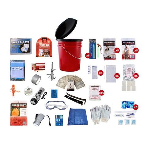 5 Person Survival Kit 72 plus Hours - White