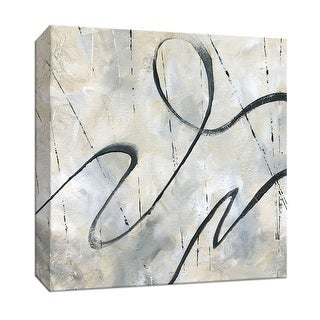 """PTM Images 9-147678  PTM Canvas Collection 12"""" x 12"""" - """"Neutral Dance II"""" Giclee Abstract Art Print on Canvas"""