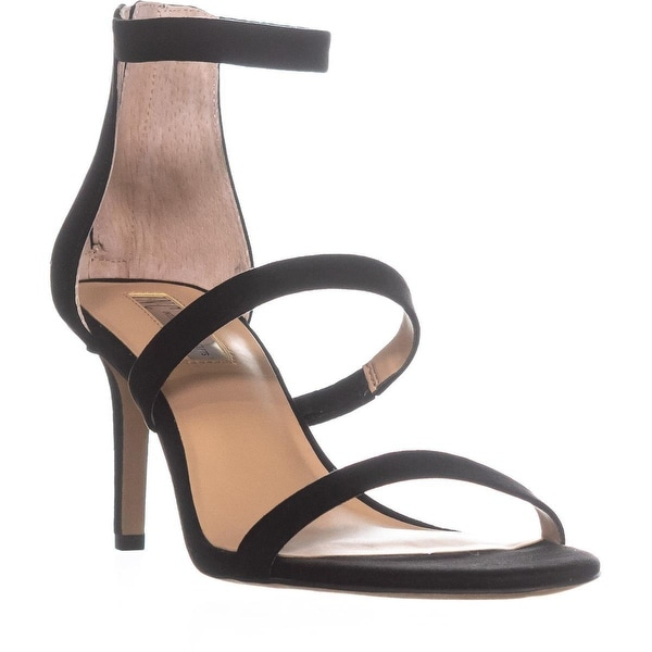 I35 Lavonn Ankle Strap Zip Up Sandals, Black