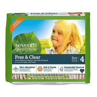Seventh Generation Baby Diapers; Stage 4, 22-37 Lb - (Case of 4 - 27 ct)