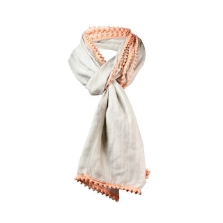 Style & Co. Women's Pom Pom Trim Wrap Scarf - os