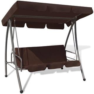 vidaXL Patio Outdoor Swing Canopy Hammock Seat Bed Coffee Brown Garden Porch