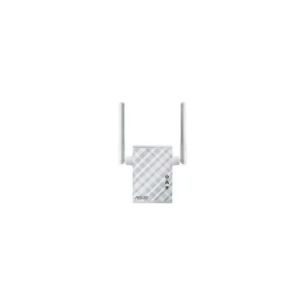 Asus Wireless-N300 Repeater - Media Bridge - Access Point Asus RP-N12 IEEE 802.11n 300 Mbit/s Wireless Access Point - 2.40 GHz -