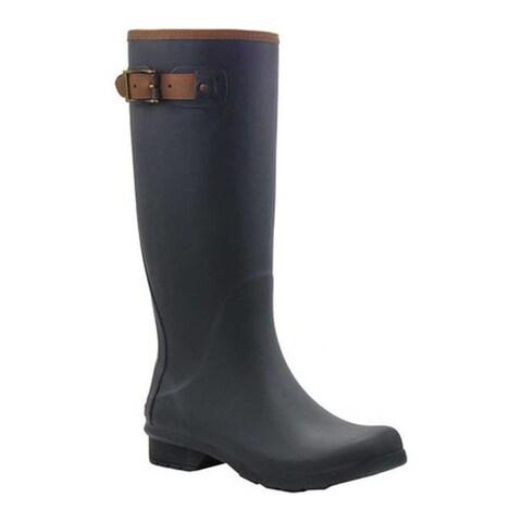 Chooka Women's City Solid Tall Rain Boot Black