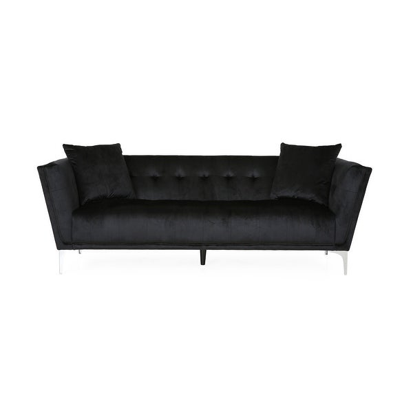 Chopline Glam Modern 3-seater Velvet Sofa by Christopher Knight Home