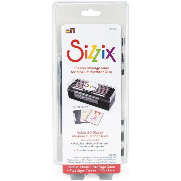 Sizzix Sizzlits Plastic Storage Case-Holds 20 Medium Dies