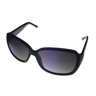 Kenneth Cole Reaction Plastic Sunglass Black, Gradient Smoke Lens KC1179 1B - Medium