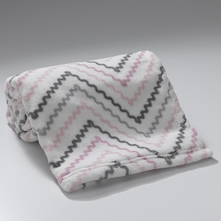 Link to Lambs & Ivy Bunny Collection White/Pink/Gray Chevron Coral Fleece Baby Blanket Similar Items in Baby Blankets