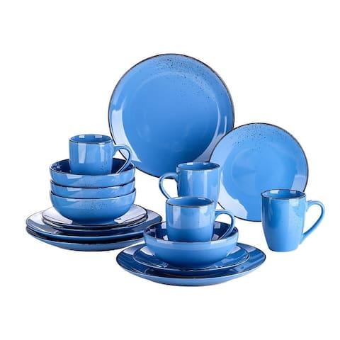 vancasso Navia 16 Piece Vintage Distressed Dinnerware Set